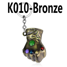 Jantens Infinity Glove Gauntlet Keychain Metal Key Rings Chaveiro Key Chain Jewelry bronze