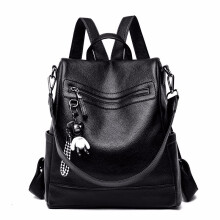 Vojoyce-Tas Ransel wanita-Casual wild fashion female backpack Black