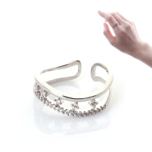 COCOA JEWELRY SHINNING LOVE RING Silver