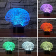 Farfi 3D Panel Brain Acrylic USB Charging LED Night Light Bedside Decor Lamp as the pictures