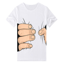 Farfi 3D Big Hand Bone Print Short Sleeve T-shirt
