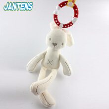 Jantens Cute crib stroller toy bunny bear soft plush baby stroller kids animal hanging ring baby toys
