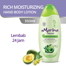 MARINA Hand & Body Lotion Natural Rich Moisturizing 350 ml