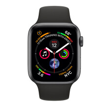 Apple Watch Series 4 GPS 44mm MU6D2 Space Gray Aluminum Case with Black Sport Band