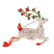 [COZIME] Christmas diamond personalized design deer brooch Multi-Colour