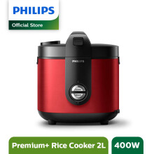 PHILIPS Rice Cooker 2 L HD3132/32 Premium Plus - Red