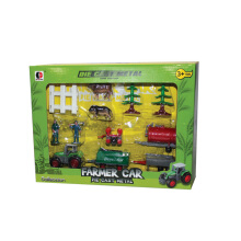 Ling speed Alloy car farm sliding farmer series value set children's toys