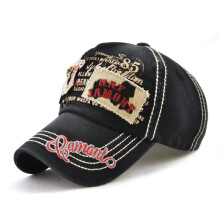 JAMONT Men's 2018 new European and American fashion metal skull skull cap retro printing trend embroidered baseball cap