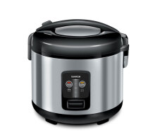 Sanken SJ-2100 Rice Cooker [1.8L/ Stainless] Black