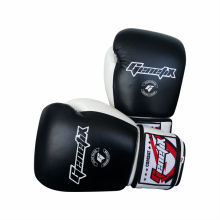 GENETIX Boxing Gloves COMBAT Leather GBG4L BlackWhite