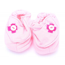 Cribcot Booties with Ribbon - Baby Pink & Hot Pink   3 -6M