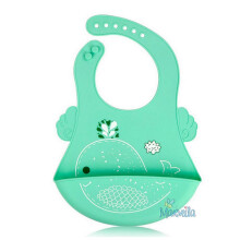 Marveila Waterproof Silicone Bib With Crumb Catcher