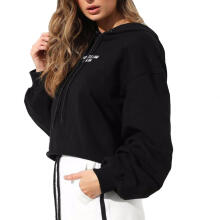 Farfi Fashion Letters Drawstring Hooded Long Sleeve Top Women's Casual Hoodie Pullover