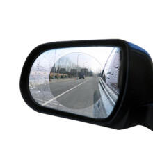 Farfi Rainproof Car Rearview Mirror Film Sticker Anti-fog Coating Protective Cover Round