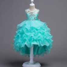 Girl Dress Kids Ruffles Lace Party Wedding Dresses Girl Birthday Party Dresses 120
