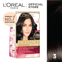 L'OREAL Excellence Creme #3 - Cat Rambut - Natural Dark Brown