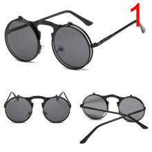 Fashion Retro Vintage Gothic Round Flip Up Sunglasses Steampunk Glasses