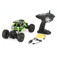 COZIME YY300 2.4GHz 1/18 Scale 20km/h 4WD Double Motors Rock Crawler Off-Road RC Car Green