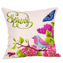 "paisiap18"" Spring Flower Pillow Case Square Cover Sofa Waist Cushion Covers Home Decor_Multicolor Others"
