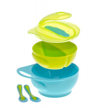 [free ongkir]Brother Max Easy-Hold Weaning Bowl Set - Blue Green