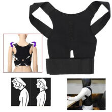 Farfi Men's Women's Adjustable Breathable Posture Correction Belt Posture Support as the pictures