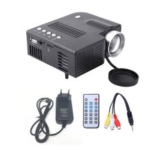 UC28A Mini LED Projector 1080P Multimedia Home Cinema Theater Black