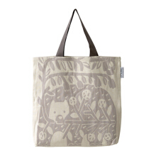 QUARTER REPORT Jacquard Tote Bag  FLOWER GIFT, Made in Japan