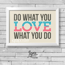 KATAKU Poster & Bingkai Motivasi - Do What You Love 2 - Hiasan Dinding Pigura