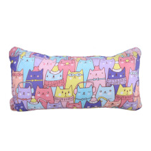 NAMALE Fancy Cushion Cat Full Colour 30x55 cm - Purple (Cover Zipper)