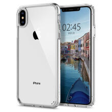 Case iPhone XS Max Spigen Clear Anti Shock Ultra Hybrid Casing - Crystal Clear