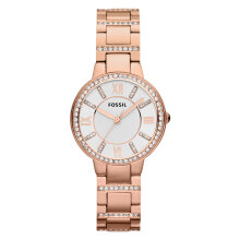 Fossil Virginia Silver Dial Rose Gold Stainless Steel Bracelet Watch [ES3284]