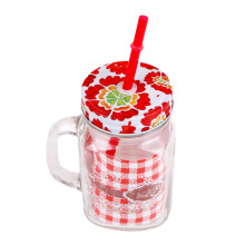 FORMIA Juice Jar Colored Flower 450Ml - Red