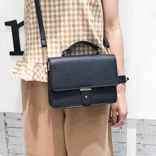 [LESHP]Vintage Clutch Handbag Small Satchel Flap Bag Women Shoulder Messenger Black