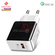 Santac 18W Fast Quick Charge 3.0 Wall Charger For Samsung iPhone 6 Xiaomi Huawei vivo Black