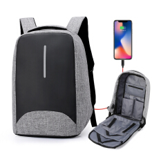 Wei's select fashion men's wear-resistant waterproof computer backpack hot tide comes with USB computer backpack B-ZWX18-18