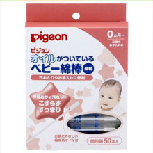 PIGEON olive oil baby cotton bats 50