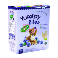 YUMMY BITES Rice Crackers Blueberry Box - 50gr