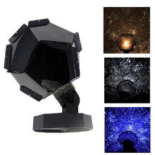 Farfi Romantic LED Light Star Projector Lamp Bedroom Cosmos Starry Sky Projection Black