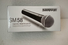 High quality version of the original SHURE sm58s on / off vocal karaoke micro dynamic wired handheld microphone Black