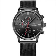 Casual Watch MEGIR Fashion Men's Watches Steel Mesh Band Quartz Sport Watch Chronograph Male WristWatches
