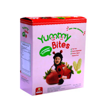 YUMMY BITES Rice Crackers Strawberry Box - 50gr