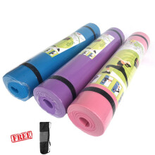Techdoo Matras Yoga Bahan EVA 4MM Tali + kantong Anti Licin Anti Air Yoga Mat YYM04-A