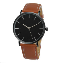 PEKY Watch Men  Famous Brand Gold Leather Band Wrist Watches