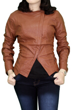 Gudang Fashion Jaket Wanita Fashion Fabric - Coklat / JAKW 147+A