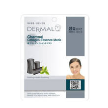 Dermal Charcoal Collagen Essence Mask 10pc