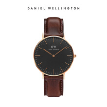 Daniel Wellington Classic Black Leather Watch Bristol Black 36mm
