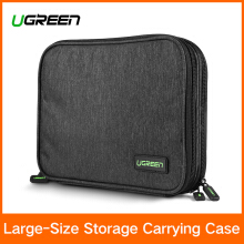 UGREEN Electronic Organizer, Double Layer Travel Gadget Bag Black