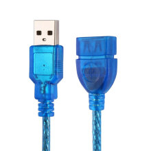 [kingstore] 1/1.5/2/3M USB 2.0 Extension Cable Male To Female Blue Blue