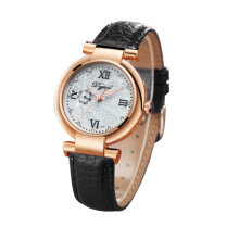 Quartz watches Men's Watch Business Style Women Crocodile Pattern Leather Strap Wrist Watch for Female