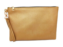 Clutch Lady Solid Color Clutch Bahan Kulit Waterproof - Copper Beauty Gum